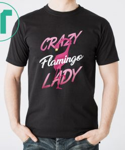Crazy flamingo lady shirt