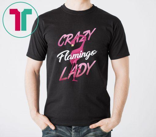 Crazy flamingo lady shirt