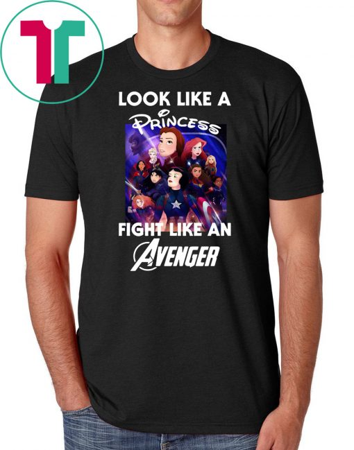 Look like a princess fight like an avenger poster disney shirt