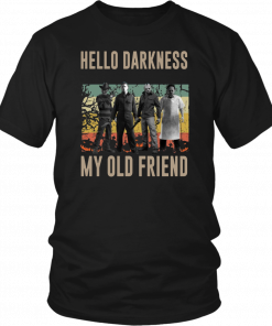 Vintage Horror Characters Hello Darkness My Old Friend Classic T-Shirt