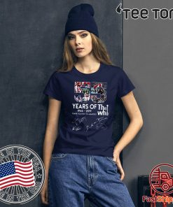 55 years of The Who thank you for the memories 2020 TShirt