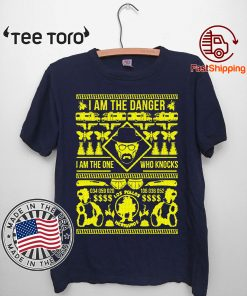 Walter White I am the danger I am the one who knocks Christmas T-Shirt