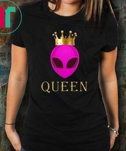 Alien Queen Funny Alien Head Wearing Crown T-shirt Funny Gift