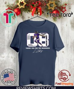 08 Lamar Jackson Thank You For The Memories Offcial T-Shirt