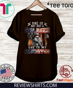 Veteran American flag she is not just a soldier she is my daughter Offcial T-Shirt