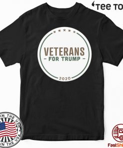 Veterans for Donald Trump Buttons 2020 Tee Shirt