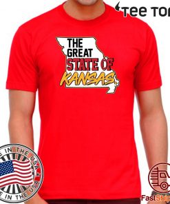 Your Corner Funny The Great State of Kansas American Football T-Shirt