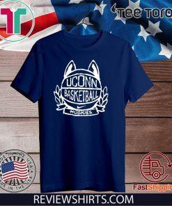 UConn Huskies Navy Basketball Crest Official T-Shirt