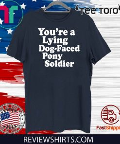 You're a Lying Dog-Faced Pony Soldier Joe Biden Meme Joke Shirt