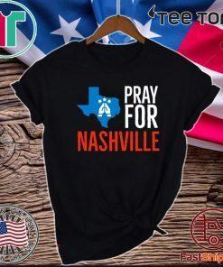 Pray For Nashville Strong Texas Supporter Official T-Shirt