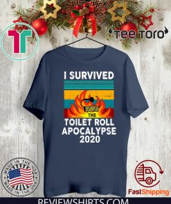 vintage I survived the fire toilet paper apocalypse 2020 T-Shirt