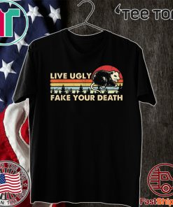 Ugly Cat Vintage Live Ugly Fake Your Death Opossum 2020 T-Shirt