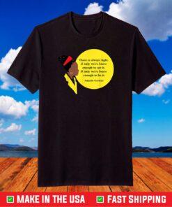Amanda Gorman Vintage retro There is Always Light Poem T-Shirt