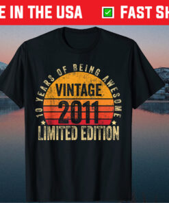 10 Year Old Vintage 2011 Limited Edition 10th Birthday Gift T-Shirt