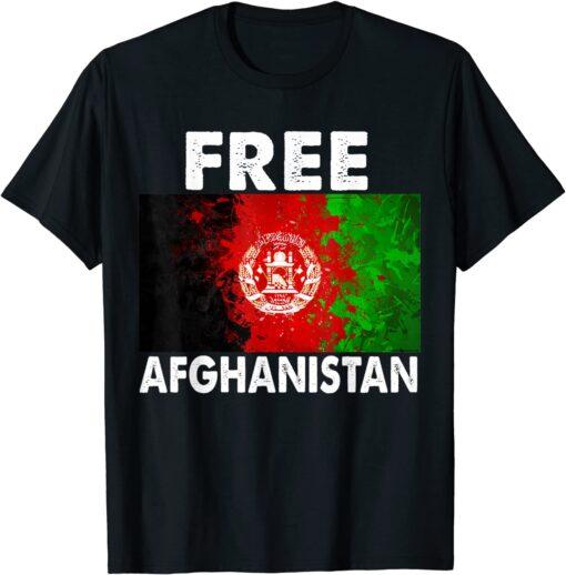 Afghanistan Flag Free Afghanistan Tee Shirt
