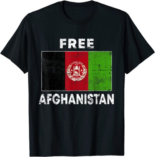 Free Afghanistan Flag Afghan Vintage Afghanistan T-Shirt