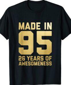 26th Birthday Gift Men Women 26 Year Old Daughter Son 1995 T-Shirt