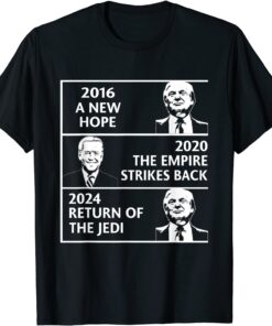 2016 a new hope 2020 the empire strikes back Trump Biden Tee Shirt